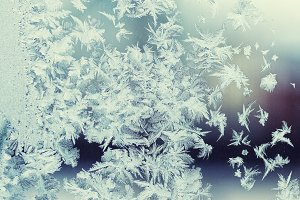 Frosty patterns on window