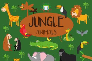 21x Jungle animals Set