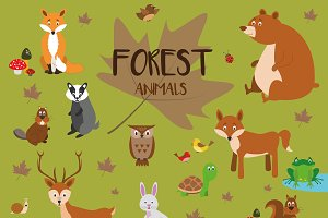20x Forest animals Set