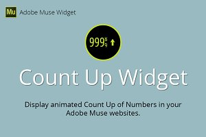 Count Up Adobe Muse Widget