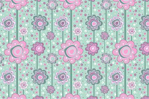 "Seamless pattern ""Pink flowers"""