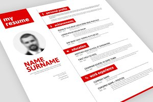 Vector Minimalistic Resume Template
