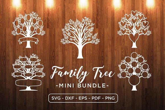 Family Tree Mini Bundle Tree Svg Pre Designed Illustrator Graphics Creative Market