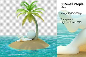 3D Small People - Island