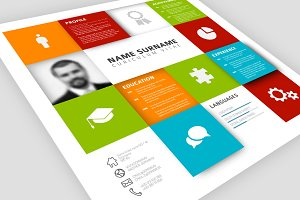Visual Mosaic Resume Template
