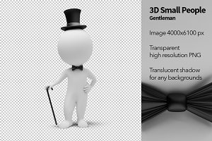 3D Small People - Gentleman