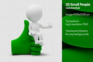 3D Small People - Cool Armchair