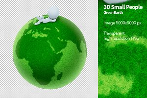 3D Small People - Green Earth