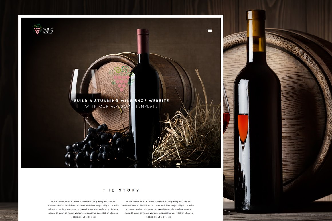 wine shop responsive wine template html css themes creative market