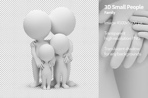 3D Small People - Family