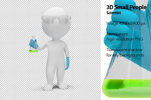 3D Small People - Scientist