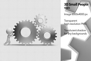 3D Small People - Gears