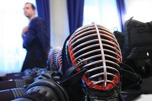 Kendo helmet view