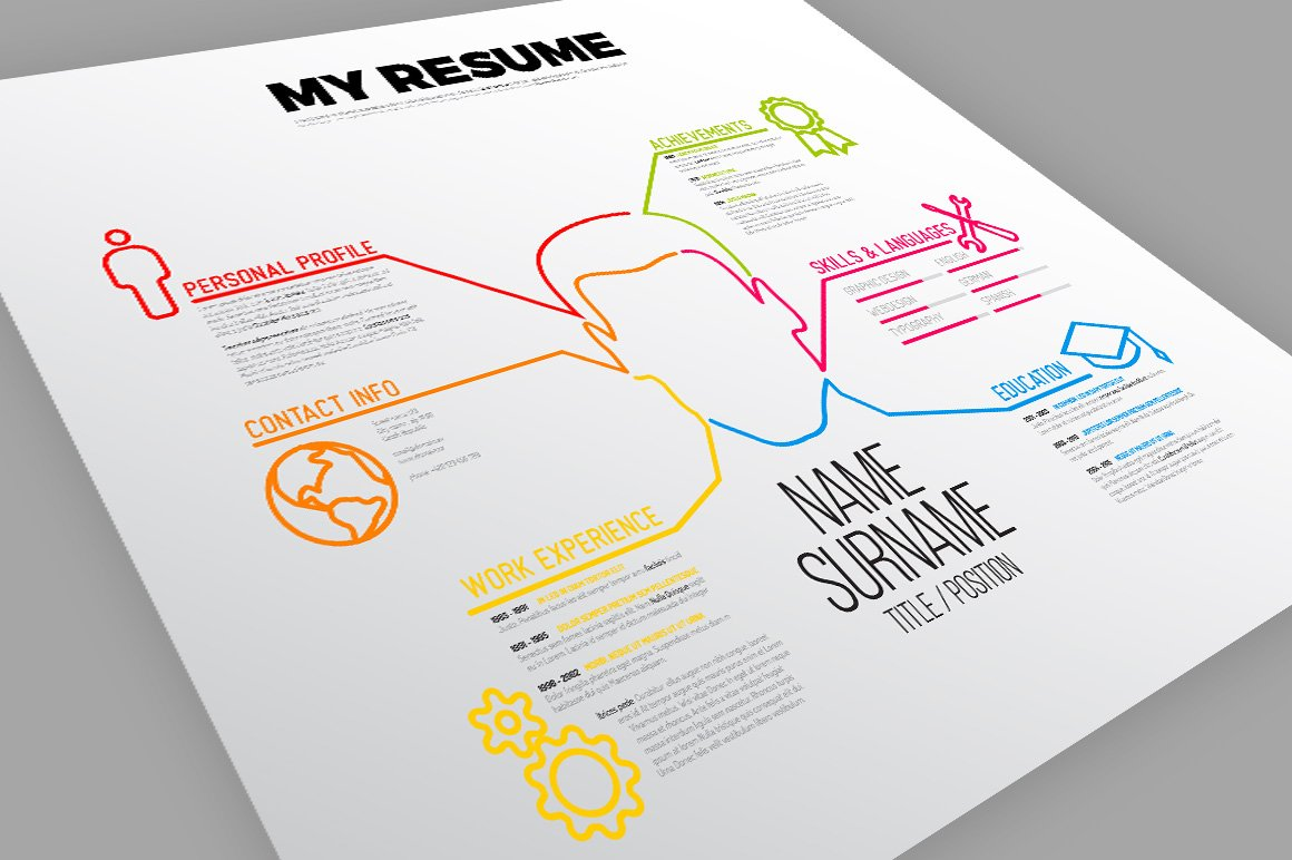 minimalist resume template resume templates creative market