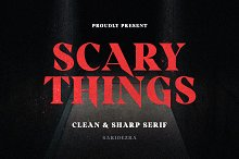 Scary Things - Sharp Serif by  in Fonts