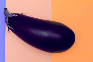 Vegetable Eggplant. minimal photo