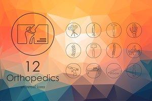Orthopedics line icons