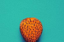 Numerology red apple. Minimal fashio