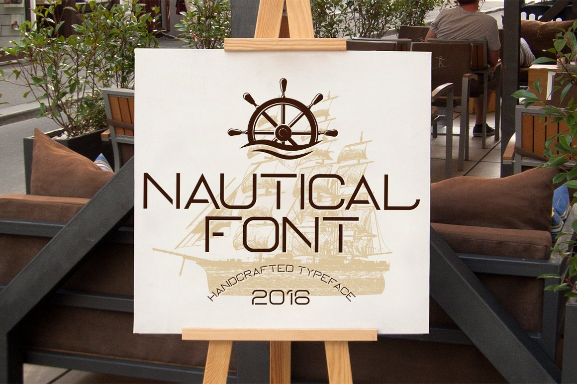 Nautical Typeface ~ Display Fonts ~ Creative Market