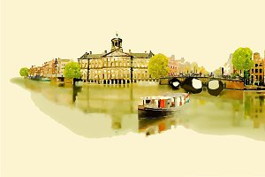 drawing, watercolor, amsterdam, arti