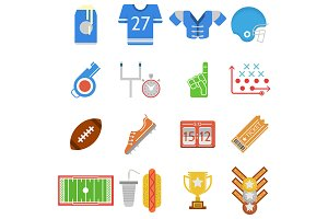 American football, rugby vector icon