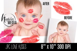 Love Kisses Lipstick Lips Overlay