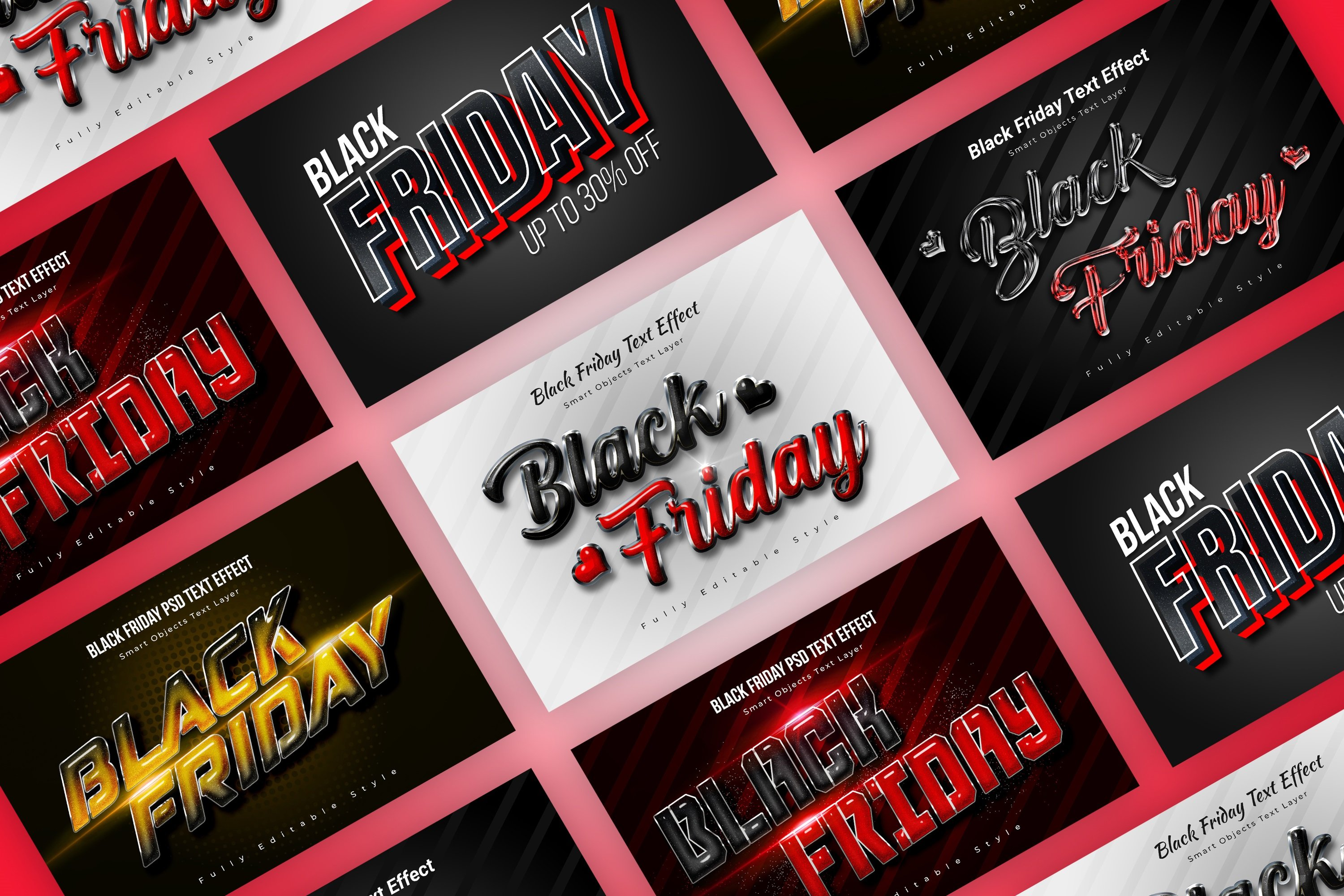 Black Friday Psd Text Style Effect Unique Photoshop Add Ons Creative Market