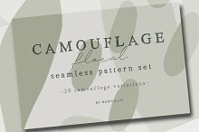 Camouflage Floral Vector Patterns