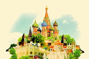 moscow watercolor