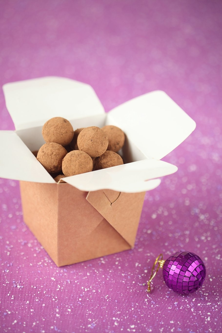 Chocolate Truffles in a brown box ~ Food Images ~ Creative Market
