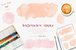 Watercolor Splotches Shapes
