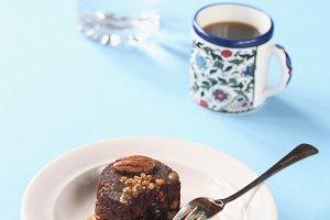 Chocolate Brownie with Caramel Sauce