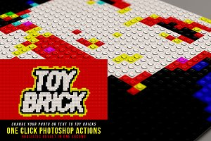 Toy Brick Photoshop Actions