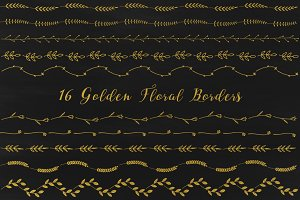Gold Floral Border Clipart