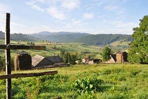 Mountain village in Carpathians