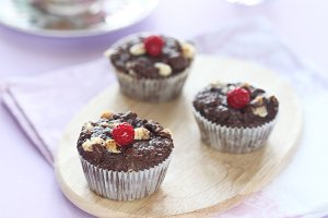 Chocolate  Muffins with White Chocol