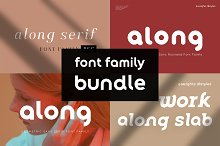 Along Classy Font Family Bundle by  in Fonts