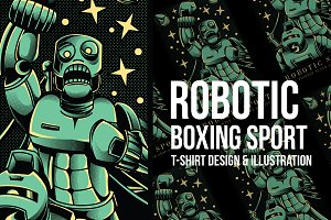 Robotic Boxing Sport Illustration