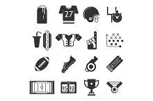 Sport vector icon. American football