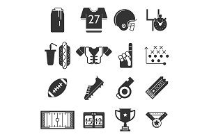 Sport vector icon. American football