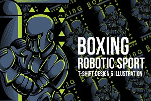 Boxing Robotic Sport Illustration