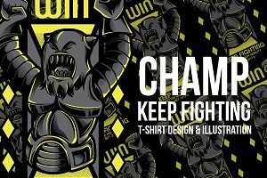 Champ Keep Fighting Illustration