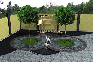 Landscaping recreation space