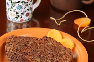 Two pieces of Chocolate Ginger Cake