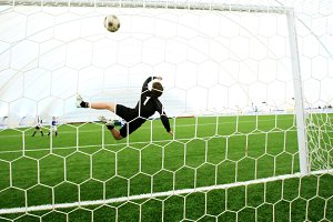 Jumping goalkeeper