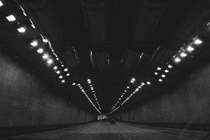 Driving Through San Francisco Tunnel