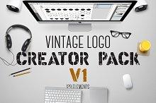 Vintage Logo Creator Pack