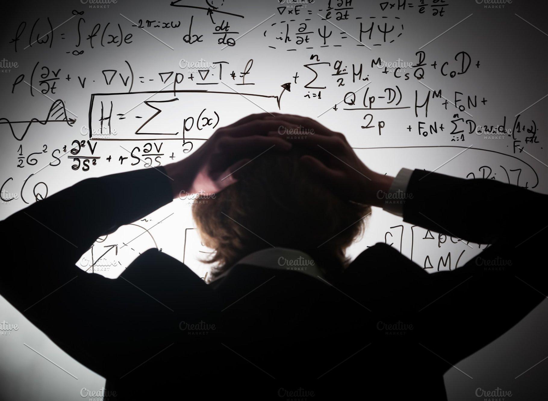 Mathematics & science exam concept