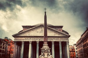 The Pantheon in Rome, Italy.