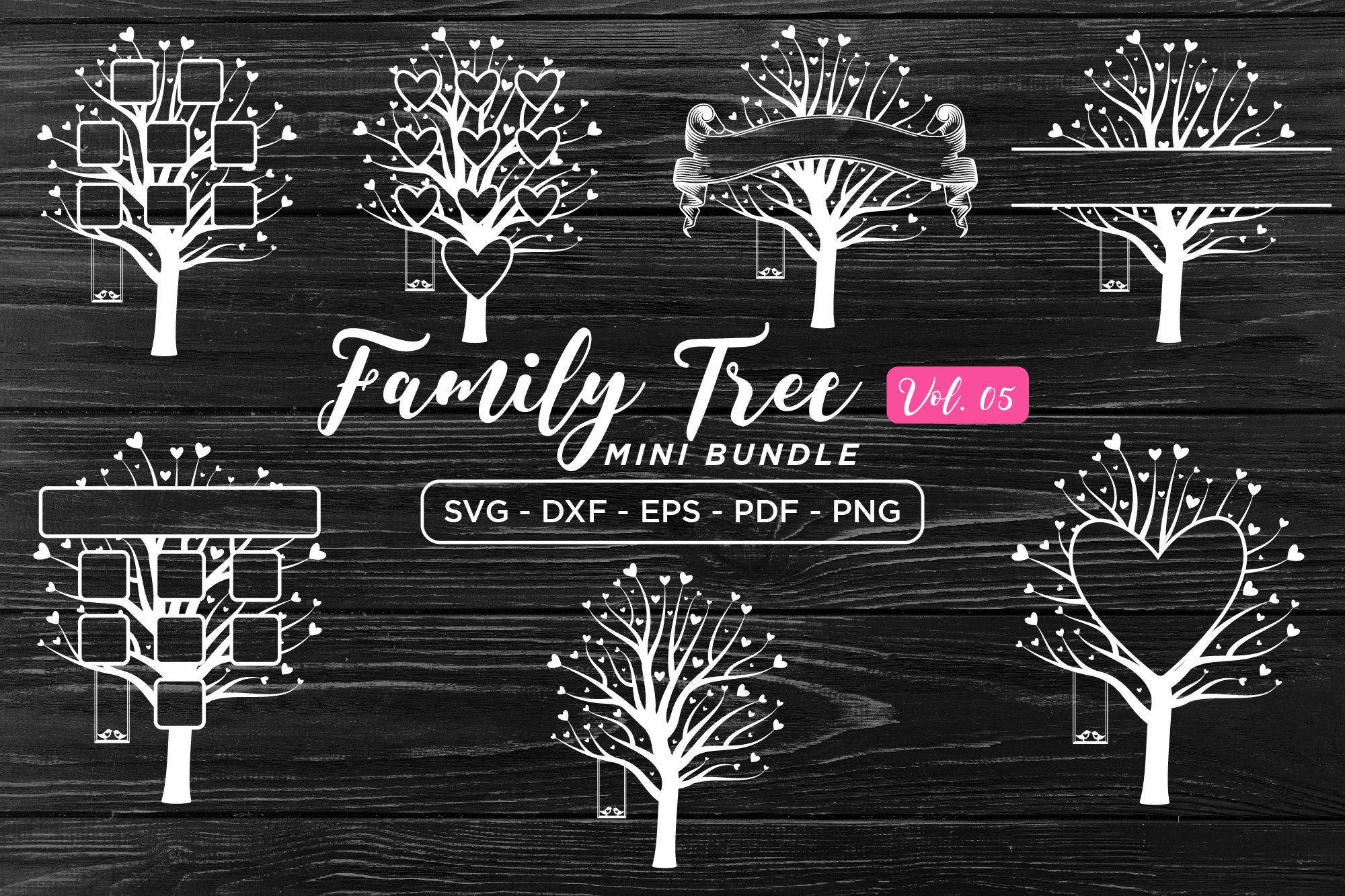 Family Tree Svg Bundle Vol 5 Pre Designed Illustrator Graphics Creative Market